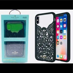 New Kate Spade Lace Cage Case for iPhone X